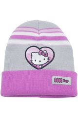Hello Kitty Rosado / plomo de Niña modelo gorro invierno hello kitty Gorros