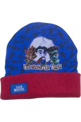 Super Monsters Azul / rojo de Niño modelo gorro invierno super monsters Gorros Casual
