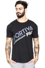Fila Negro de Hombre modelo camiseta masc. fila sportiva Polos Deportivo
