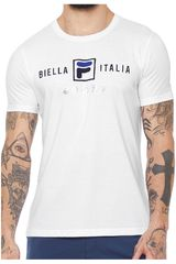 Fila Blanco de Hombre modelo camiseta masc. fila block colors Polos Deportivo