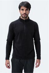 Fila Negro de Hombre modelo blusao masc. fila fleece Poleras Deportivo