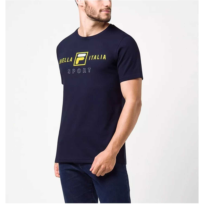 Polo de Hombre Fila Navy camiseta masc. fila block colors