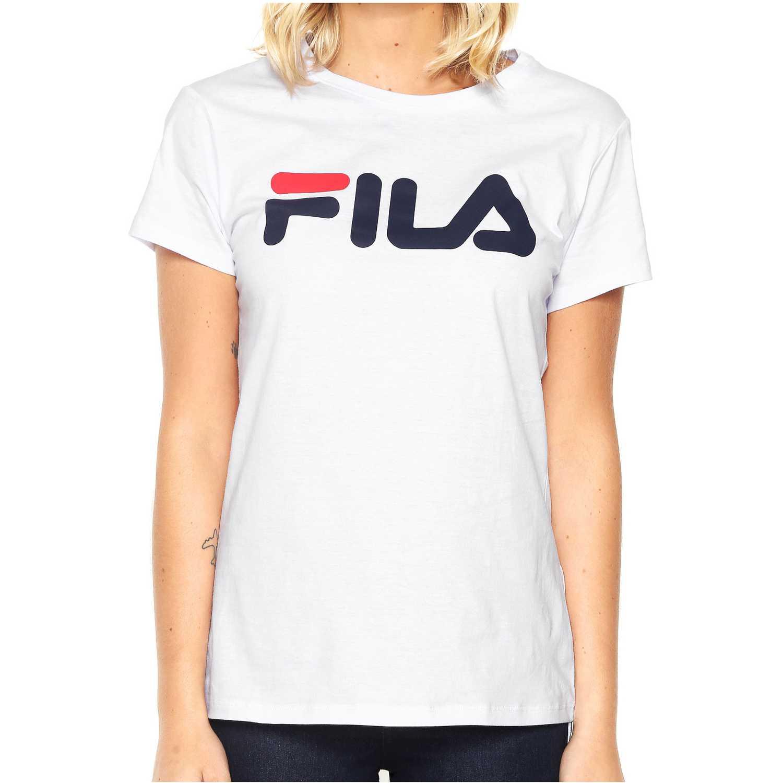 Polo de Mujer Fila Blanco camiseta fem. fila letter new