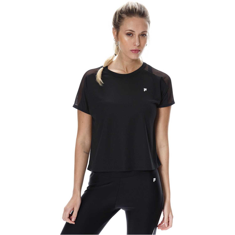 Polo de Mujer Fila Negro blusa fem. fila mesh