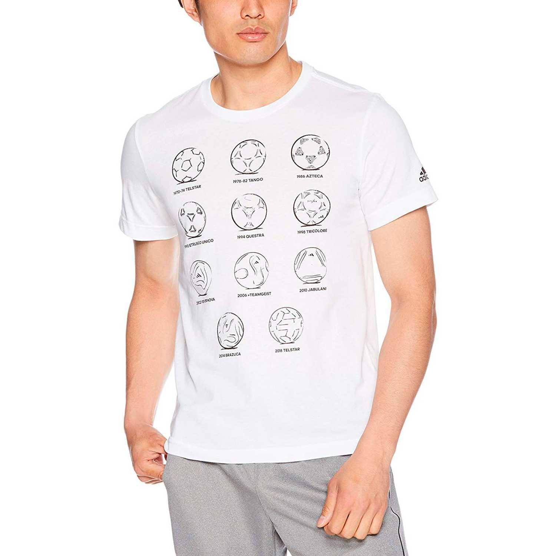 Polo de Hombre Adidas Blanco rd 2 rus ftball