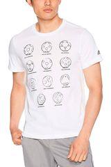 Adidas Blanco de Hombre modelo Rd 2 Rus FtBall Deportivo Polos
