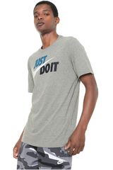 Nike Gris de Hombre modelo m nsw tee just do it swoosh Deportivo Polos