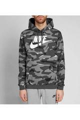 Nike Camuflado de Hombre modelo m nsw club camo hoodie po bbgx Poleras Deportivo