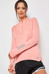 Adidas Melón de Mujer modelo RS LS ZIP TEE W Poleras Deportivo