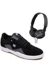 DC Negro /gris de Hombre modelo barksdale+promo audifonos sony Casual Deportivo Urban Walking Zapatillas