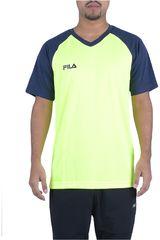 Fila Amarillo / azul de Hombre modelo camiseta masc. fila vitalli ii Deportivo Polos