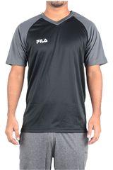 Fila Negro /gris de Hombre modelo camiseta masc. fila vitalli ii Deportivo Polos