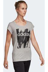 Polo de Mujer Adidas Gris / negro w e aop tee
