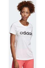 Adidas Blanco / negro de Mujer modelo w e lin slim t Deportivo Polos