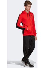 Adidas Rojo / negro de Hombre modelo mts lin ft hood Buzos Deportivo