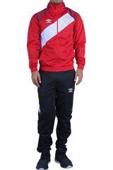 Umbro Rojo / negro de Hombre modelo sash tricot tracksuit Buzos Deportivo