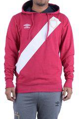 Umbro Rojo / blanco de Hombre modelo sash hoody Deportivo Poleras