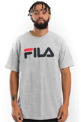 Polo de Hombre Filamen t-shirt letter Plomo / gris