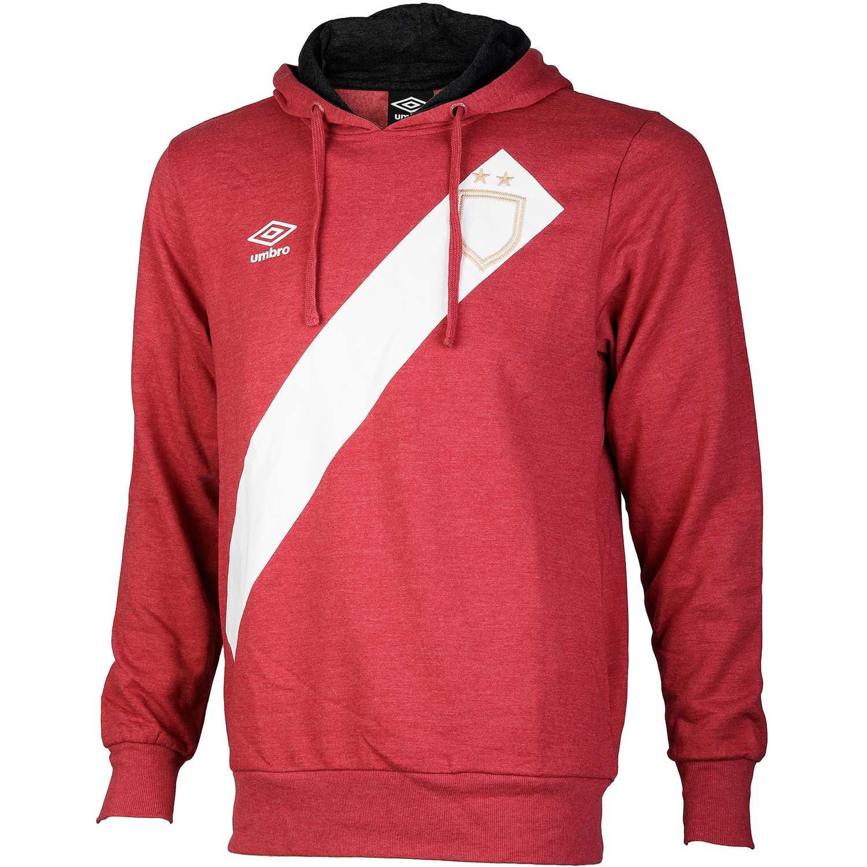 Polera de Hombre Umbro Rojo / blanco sash hoody