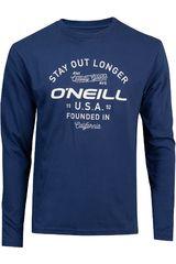 Polera de Hombre ONEILLlm stay out l/slv t-shirt Azul
