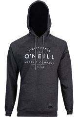 Polera de Hombre ONEILLlm o'neill hoodie Plomo/blanco