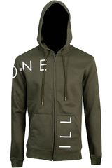 Polera de Hombre ONEILLlm cut off logo zip hoodie Verde