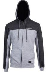 Polera de Hombre ONEILLlm block zip hoodie Plomo / gris