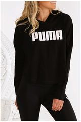 Puma Negro / blanco de Mujer modelo summer cropped light hoody Poleras Deportivo