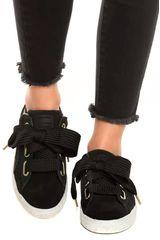 Puma Negro / blanco de Mujer modelo suede heart fabulous wn's Casual Deportivo Urban Walking Zapatillas Zapatillas casual